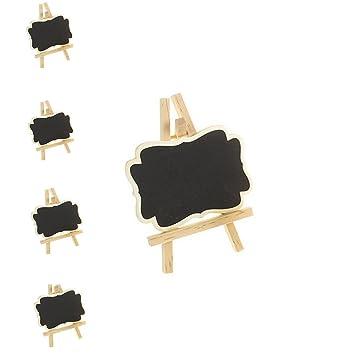 Anone 10 pcs madera Mini pizarra con función atril - Número ...