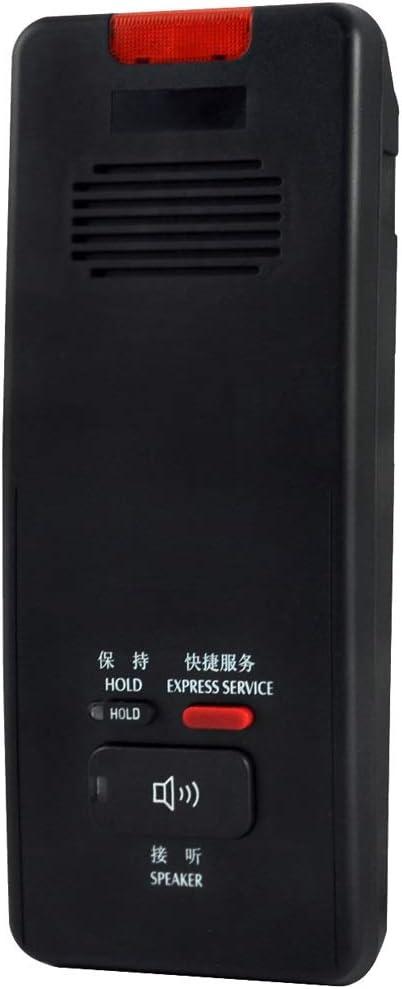 XAOBNIU Teléfono inalámbrico Teléfono Fijo Ascensor Baño Montaje en Pared Resistente al Agua Llamada de Emergencia Manos Libres Extensión (Color : Black): Amazon.es: Hogar