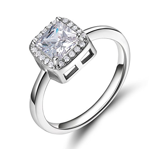 Sterling Princess Zirconia Eternity Engagement product image
