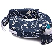 My Brest Friend Original Nursing Posture Pillow, Navy Bluebells