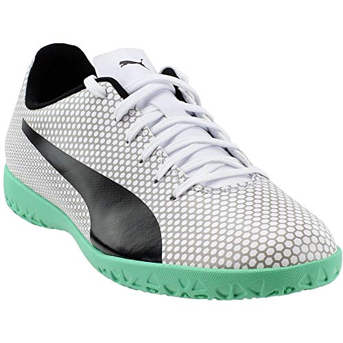 PUMA Mens Spirit Indoor Training Soccer Athletic Cleats Silver 10.5