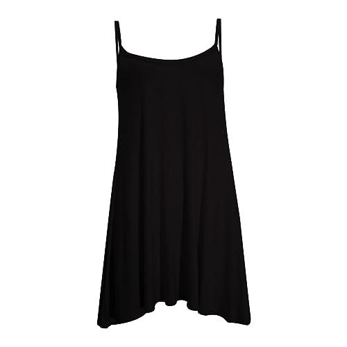 Fashion 4 Less - Vestido sin mangas para mujer, varias tallas, varios colores lisos