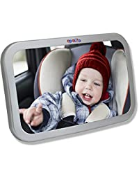 EPAuto Baby Car Back Seat Mirror for Baby and Mom Rear Facing View, Wide Convex Shatterproof Glass and Fully Assembled Crash Tested BOBEBE Online Baby Store From New York to Miami and Los Angeles