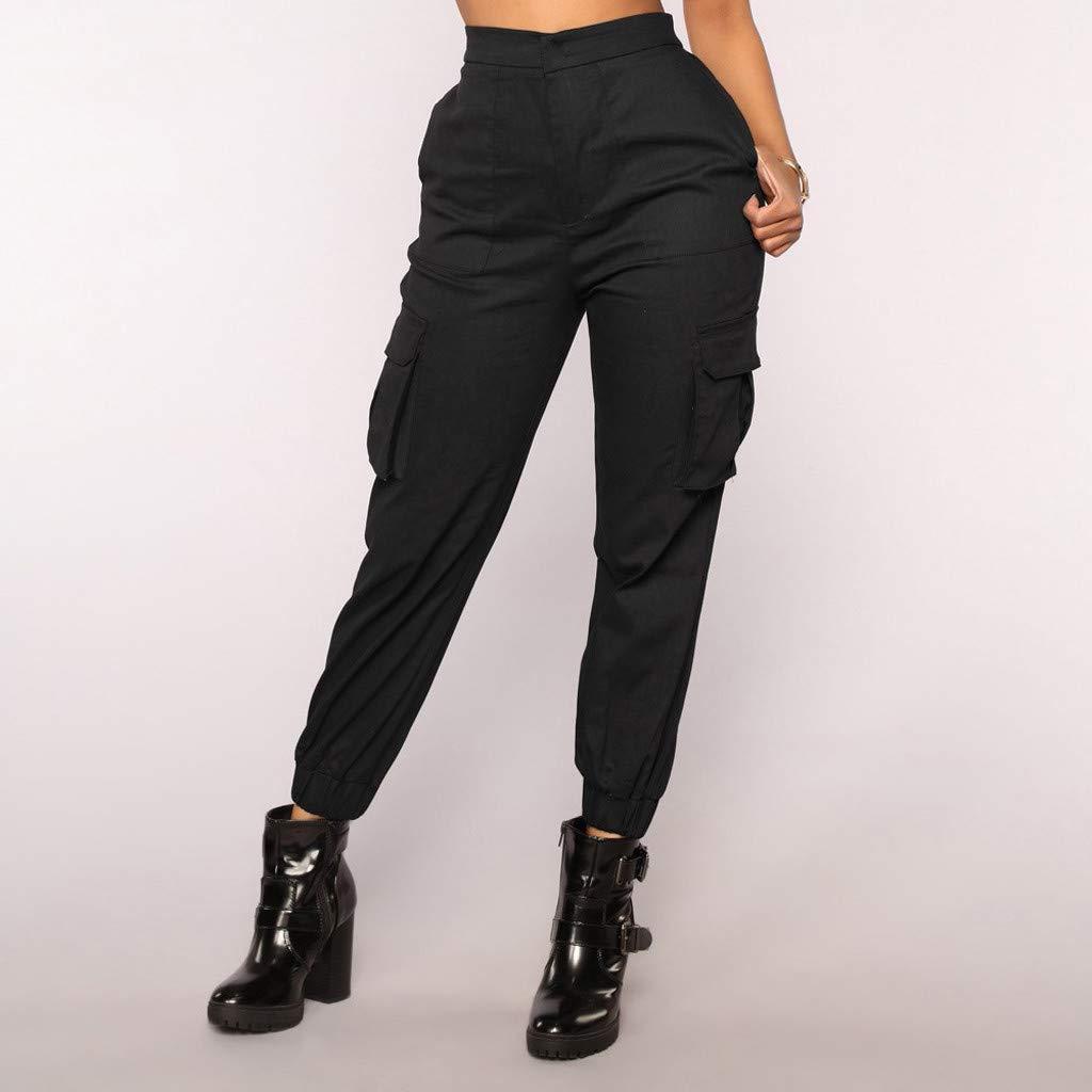 Cocoty-store 2019 Mujer Suave Pantalones de Fitness Algodón ...