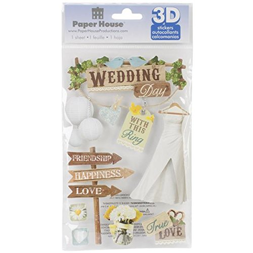 Paper House 3-D Sticker-Wedding