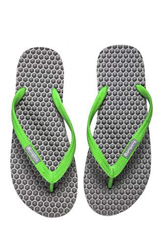 Invigorating Leg - Bumpers Men's Massage Flip Flop (43-44 EU \10-11 US \ 29 cm, Grey & Green)
