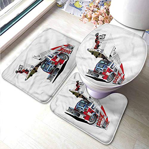 Fire Truck Hooked Rug - 3