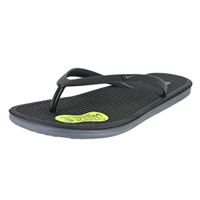 5987d8710 Nike Womens WMNS Solarsoft Thong II Black Black Cool Grey (11 ...