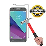 Samsung Galaxy J3 Emerge Screen Protector, KMISS 9H Hardness 2.5D Tempered Glass Anti-Scratch, Anti-Fingerprint, Bubble Free, Lifetime Replacement Warranty (1 Pack)