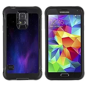 LASTONE PHONE CASE / Suave Silicona Caso Carcasa de Caucho Funda para Samsung Galaxy S5 SM-G900 / Universe Purple Blue Light Galaxy Dust