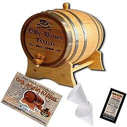 Personalized American Oak Aging Barrel - Design 025: Pirate Rum (5 Liter)