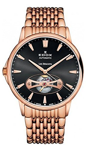 Edox Men's 85021 37RM NIR Les Bemonts Analog Display Swiss Automatic Rose Gold Watch