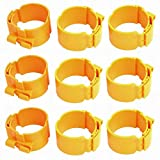 Fuxell 60mm Dia 38mm Width Central Air Conditioner Pipe Clip Clamp Yellow 9pcs