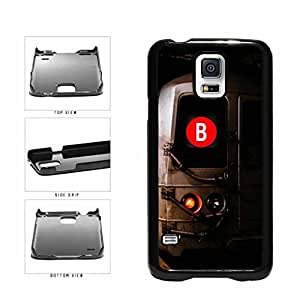 Personalized NYC Train Custom Letter B Plastic Phone Case Back Cover Samsung Galaxy S5 I9600