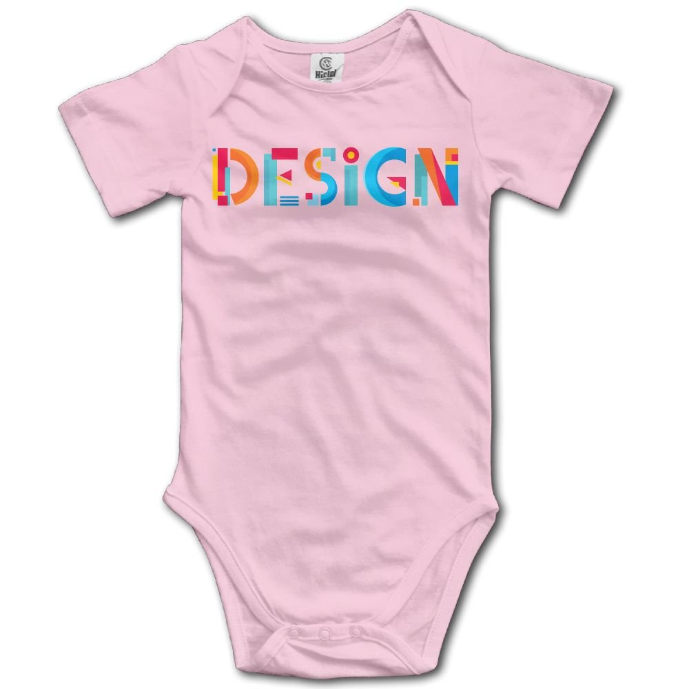Jaylon Baby Climbing Clothes Romper Design Logo Infant Playsuit Bodysuit Creeper Onesies Pink