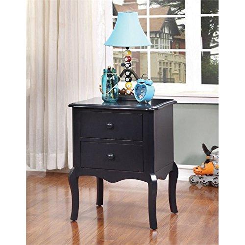 Furniture of America Torrez 2 Drawer Nightstand in Blue