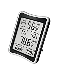BENGOO Indoor Humidity Monitor Thermometer Monitor Digital Hygrometer Thermometer Monitor with Stand and Large LCD Display Works in Celsius and Fahrenheit for Home Living Room Office BOBEBE Online Baby Store From New York to Miami and Los Angeles