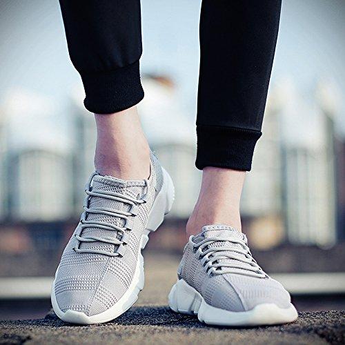 Chaussure Gris Sneaker Fitness Sport Homme pour Baskets Homme Chaussures de FZUU Lacets qwPAgtpFx