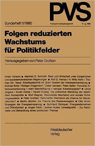 Book Folgen reduzierten Wachstums für Politikfelder (Politische Vierteljahresschrift Sonderhefte) (German Edition)