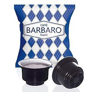 100 CAPSULE CAFFE' BARBARO CREMOSO NAPOLI MISCELA BLU COMPATIBILI CAFFITALY