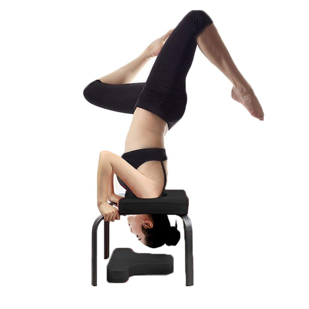 Fitness Equipment- Relieve Fatigue and Build Up Body Gym Wateralone Yoga Headstand Bench Yoga Aids Workout Chair Multifunctional Sports Exercise Bench for Family steel/pipe and PU Pads