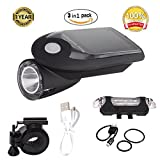 GYY Rechargeable Bicycle LED Front HeadLight Headlamp Set Combinations Waterproof (Solar)