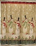 Snowman Shower Curtain Tall Snowman Shower Curtain
