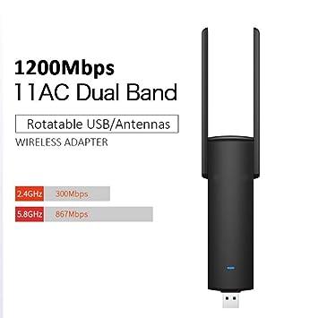 YRX Adaptador WiFi USB 1200mbps Doble Banda wi-fi ...