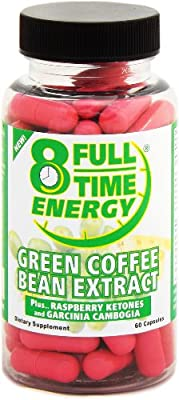 Full-Time Energy Green Coffee Bean Extract Plus Raspberry Ketones and Garcinia Cambogia - Extreme Weight Loss Diet Pills - The Best Weight Loss Supplement Formula That Works Fast for Women from Full-Time
