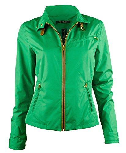 Ralph Lauren Top Coat (Ralph Lauren Women's Buckle-Collar Mockneck Jacket Coat (X-Large, Cym Green))