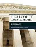 High Court Case Summaries on Contracts, Keyed to Farnsworth, Publisher's Editorial Staff, 1628100028