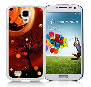 Recommend Design Samsung S4 TPU Protective Skin Cover Cool Pumpkin Halloween White Samsung Galaxy S4 i9500 Case 1