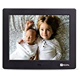 Advanced Digital Picture Photo Frame - HD 1024x768 (4:3) IPS Widescreen MP3 MP4 Video Player with Calendar/Clock/Remote Control White (8 inch)