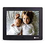 Advanced Digital Picture Photo Frame - HD 1024x768(4:3) IPS Widescreen Eletronic Picture Frame Advertising Player with Calendar/Clock/Remote Control Black 8-inch