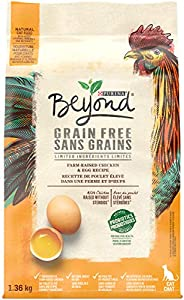 Beyond Grain Free Natural Dry Cat Food, White Meat Chicken & Egg 1.36 kg
