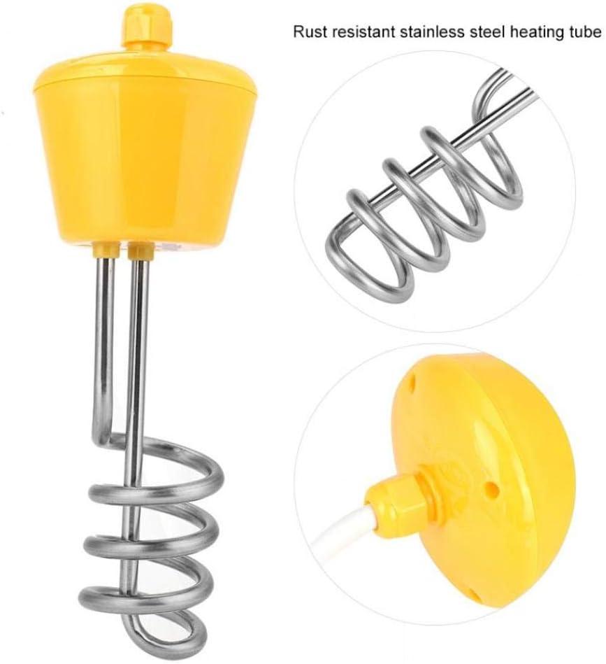 220 V 2500 W Calentador De Agua De Acero Inoxidable Protable Elemento De Inmersión Flotante Calentador De Agua Caldera Generador De Vapor Calefacción,Yellow
