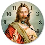 10.5'' HOLY JESUS CHRIST CLOCK - CHRISTIAN CLOCK - Large 10.5'' Wall Clock - Home Decor Clock - 3451