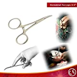 "Bdeals 3.5"" Curved Silver Hemostat Forceps Good Quality"