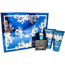 Versace EROS Gift Set for Men 1.7 oz EDT + 1.7 oz Shower Gel + 1.7 oz Aftershave Balm
