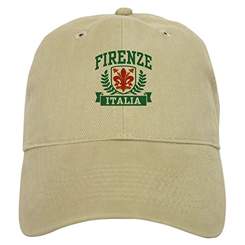 CafePress Firenze Italia Cap Baseball Cap with Adjustable Closure, Unique Printed Baseball Hat Khaki (Italian Alpine Hat)