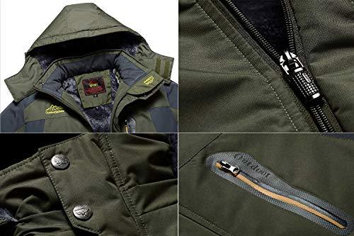 d8533a9137 MAGCOMSEN Men s Water Resistant Mountain Ski Jacket Fleece Lined Windproof  Jacket Coat with Hood