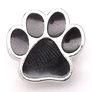 """Paw Print Line 24 Snap Cap Silver with Black 11/16"""" 1265-999"""