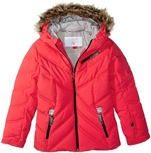 (Spyder Girls' Atlas Synthetic Ski Jacket, Hibiscus/Silver/Silver, Size 12)