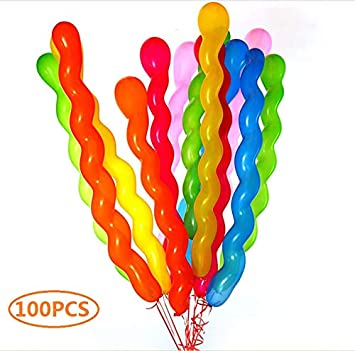 Amazon Latex Spiral Balloons 40 Inches Colorful Unique Twisted