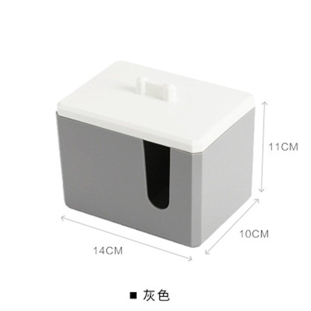 RainBabe Boîte de Coton-Tige et Cosmétiques Multifonctionnel en Plastique 14 * 10 * 11cm