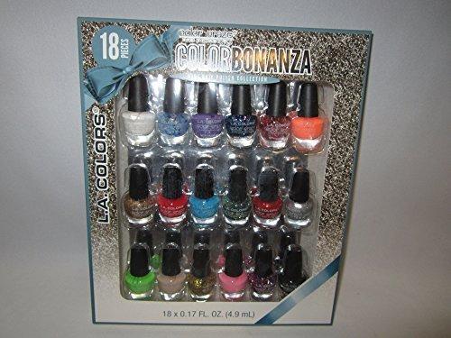 L.A. Colors Color Craze Bonanza Mini Nail Polish Collection Set (L A Colors Nail Polish Set compare prices)