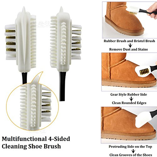 Horsehair Shoe Brush Set Multifunctional Shoe Cleaning and Shine Brush Kit for Leather Shoes, Suede and Nubuck Shoes, Car Seat or Leather Furniture by XITANGOU (Image #5)