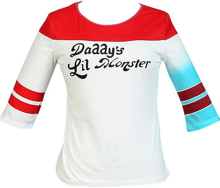 Camiseta disfraz cosplay de Harley Quinn de Suicide Squad blanco ...