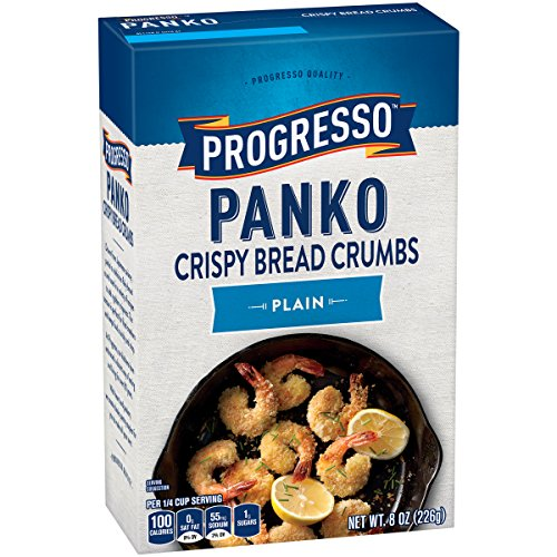 Progresso Panko Plain Bread Crumbs Box, 8 Ounce (Pack of 6)