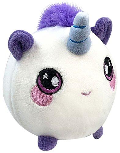Squeezamals Uma the Unicorn 3.5 Plush Squishimals Beverly Hills Teddy Bear Co
